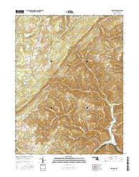 Bittinger Maryland Current topographic map, 1:24000 scale, 7.5 X 7.5 Minute, Year 2016