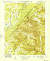 Bittinger Maryland Historical topographic map, 1:24000 scale, 7.5 X 7.5 Minute, Year 1949