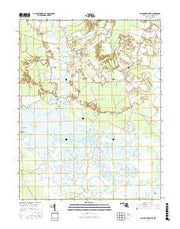 Blackwater River Maryland Current topographic map, 1:24000 scale, 7.5 X 7.5 Minute, Year 2016 from Maryland Maps Store