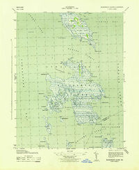 Bloodsworth Island Maryland Historical topographic map, 1:31680 scale, 7.5 X 7.5 Minute, Year 1943