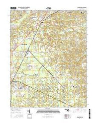Brandywine Maryland Current topographic map, 1:24000 scale, 7.5 X 7.5 Minute, Year 2016