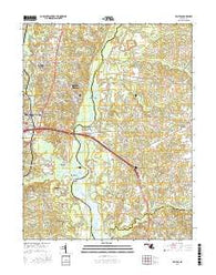 Bristol Maryland Current topographic map, 1:24000 scale, 7.5 X 7.5 Minute, Year 2016