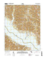 Broomes Island Maryland Current topographic map, 1:24000 scale, 7.5 X 7.5 Minute, Year 2016