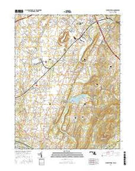 Buckeystown Maryland Current topographic map, 1:24000 scale, 7.5 X 7.5 Minute, Year 2016