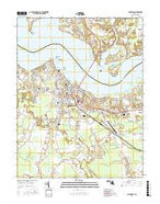 Cambridge Maryland Current topographic map, 1:24000 scale, 7.5 X 7.5 Minute, Year 2016 from Maryland Map Store