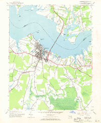 Cambridge Maryland Historical topographic map, 1:24000 scale, 7.5 X 7.5 Minute, Year 1943