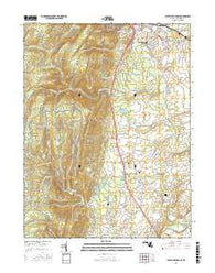 Catoctin Furnace Maryland Current topographic map, 1:24000 scale, 7.5 X 7.5 Minute, Year 2016