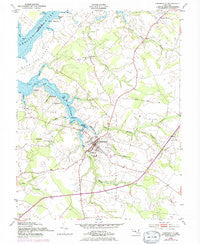 Centreville Maryland Historical topographic map, 1:24000 scale, 7.5 X 7.5 Minute, Year 1954