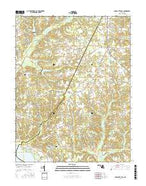 Charlotte Hall Maryland Current topographic map, 1:24000 scale, 7.5 X 7.5 Minute, Year 2016 from Maryland Map Store