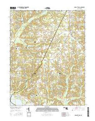 Charlotte Hall Maryland Current topographic map, 1:24000 scale, 7.5 X 7.5 Minute, Year 2016