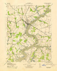 Chestertown Maryland Historical topographic map, 1:31680 scale, 7.5 X 7.5 Minute, Year 1943