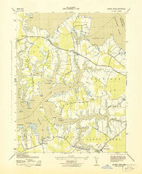 Church Creek Maryland Historical topographic map, 1:31680 scale, 7.5 X 7.5 Minute, Year 1943