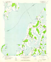Claiborne Maryland Historical topographic map, 1:24000 scale, 7.5 X 7.5 Minute, Year 1942