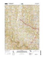 Clarksville Maryland Current topographic map, 1:24000 scale, 7.5 X 7.5 Minute, Year 2016 from Maryland Map Store