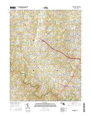 Clarksville Maryland Current topographic map, 1:24000 scale, 7.5 X 7.5 Minute, Year 2016 from Maryland Maps Store