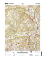 Cockeysville Maryland Current topographic map, 1:24000 scale, 7.5 X 7.5 Minute, Year 2016 from Maryland Map Store