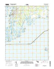 Crisfield Maryland Current topographic map, 1:24000 scale, 7.5 X 7.5 Minute, Year 2016 from Maryland Maps Store