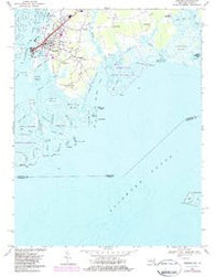 Crisfield Maryland Historical topographic map, 1:24000 scale, 7.5 X 7.5 Minute, Year 1968