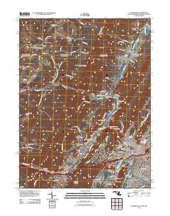 Cumberland Maryland Historical topographic map, 1:24000 scale, 7.5 X 7.5 Minute, Year 2011