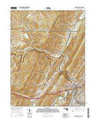 Cumberland Maryland Current topographic map, 1:24000 scale, 7.5 X 7.5 Minute, Year 2016
