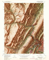 Cumberland Maryland Historical topographic map, 1:24000 scale, 7.5 X 7.5 Minute, Year 1949