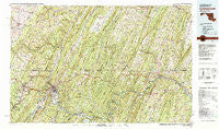 Cumberland Maryland Historical topographic map, 1:100000 scale, 30 X 60 Minute, Year 1981