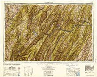 Cumberland Maryland Historical topographic map, 1:250000 scale, 1 X 2 Degree, Year 1952