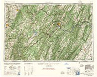 Cumberland Maryland Historical topographic map, 1:250000 scale, 1 X 2 Degree, Year 1948