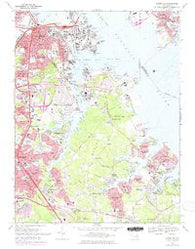 Curtis Bay Maryland Historical topographic map, 1:24000 scale, 7.5 X 7.5 Minute, Year 1969