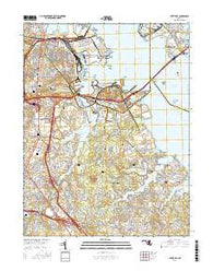 Curtis Bay Maryland Current topographic map, 1:24000 scale, 7.5 X 7.5 Minute, Year 2016