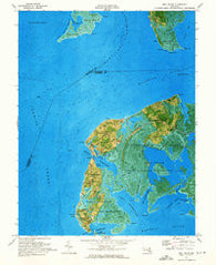 Deal Island Maryland Historical topographic map, 1:24000 scale, 7.5 X 7.5 Minute, Year 1972