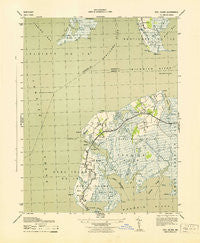 Deal Island Maryland Historical topographic map, 1:31680 scale, 7.5 X 7.5 Minute, Year 1943