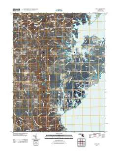 Deale Maryland Historical topographic map, 1:24000 scale, 7.5 X 7.5 Minute, Year 2011