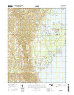 Deale Maryland Current topographic map, 1:24000 scale, 7.5 X 7.5 Minute, Year 2016 from Maryland Map Store