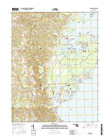 Deale Maryland Current topographic map, 1:24000 scale, 7.5 X 7.5 Minute, Year 2016