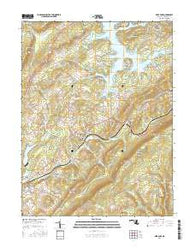 Deer Park Maryland Current topographic map, 1:24000 scale, 7.5 X 7.5 Minute, Year 2016