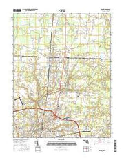 Delmar Maryland Current topographic map, 1:24000 scale, 7.5 X 7.5 Minute, Year 2016 from Maryland Maps Store
