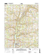 Denton Maryland Current topographic map, 1:24000 scale, 7.5 X 7.5 Minute, Year 2017 from Maryland Map Store