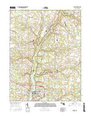 Denton Maryland Current topographic map, 1:24000 scale, 7.5 X 7.5 Minute, Year 2017 from Maryland Maps Store