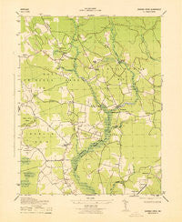 Dividing Creek Maryland Historical topographic map, 1:31680 scale, 7.5 X 7.5 Minute, Year 1943