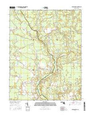 Dividing Creek Maryland Current topographic map, 1:24000 scale, 7.5 X 7.5 Minute, Year 2016 from Maryland Maps Store