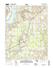 East New Market Maryland Current topographic map, 1:24000 scale, 7.5 X 7.5 Minute, Year 2016 from Maryland Maps Store