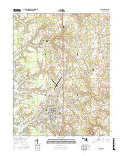Easton Maryland Current topographic map, 1:24000 scale, 7.5 X 7.5 Minute, Year 2016 from Maryland Maps Store