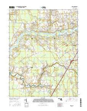 Eden Maryland Current topographic map, 1:24000 scale, 7.5 X 7.5 Minute, Year 2016 from Maryland Maps Store