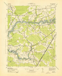 Eden Maryland Historical topographic map, 1:31680 scale, 7.5 X 7.5 Minute, Year 1943