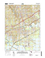Edgewood Maryland Current topographic map, 1:24000 scale, 7.5 X 7.5 Minute, Year 2016 from Maryland Map Store
