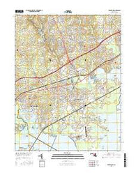 Edgewood Maryland Current topographic map, 1:24000 scale, 7.5 X 7.5 Minute, Year 2016