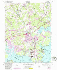 Edgewood Maryland Historical topographic map, 1:24000 scale, 7.5 X 7.5 Minute, Year 1949