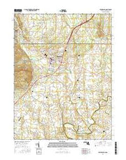 Emmitsburg Maryland Current topographic map, 1:24000 scale, 7.5 X 7.5 Minute, Year 2016 from Maryland Maps Store