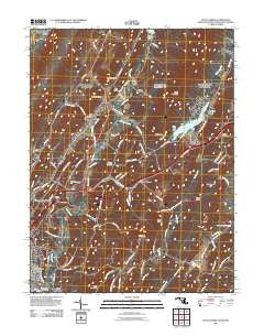 Evitts Creek Maryland Historical topographic map, 1:24000 scale, 7.5 X 7.5 Minute, Year 2011